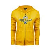 ENZA Ladies Gold Fleece Full Zip Hoodie-Track and Field