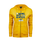 ENZA Ladies Gold Fleece Full Zip Hoodie-Game Set Match