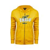 ENZA Ladies Gold Fleece Full Zip Hoodie-Golf