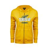 ENZA Ladies Gold Fleece Full Zip Hoodie-Tennis