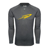 Under Armour Carbon Heather Long Sleeve Tech Tee-Rocket