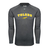 Under Armour Carbon Heather Long Sleeve Tech Tee-Arched Toledo w/ Rocket