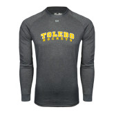 Under Armour Carbon Heather Long Sleeve Tech Tee-Arched Toledo Rockets