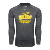 Under Armour Carbon Heather Long Sleeve Tech Tee-Swimming and Diving