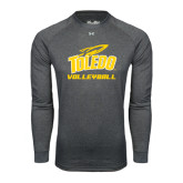 Under Armour Carbon Heather Long Sleeve Tech Tee-Volleyball