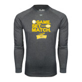 Under Armour Carbon Heather Long Sleeve Tech Tee-Game Set Match