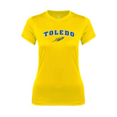 Ladies Syntrel Performance Gold Tee-Arched Toledo w/ Rocket