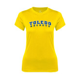 Ladies Syntrel Performance Gold Tee-Arched Toledo Rockets