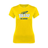 Ladies Syntrel Performance Gold Tee-Alumni
