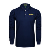 Navy Long Sleeve Polo-Arched Toledo Rockets