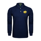 Navy Long Sleeve Polo-Swimming and Diving
