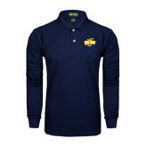 Navy Long Sleeve Polo-Dad