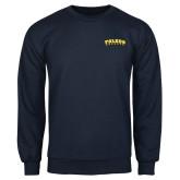 Navy Fleece Crew-Arched Toledo Rockets