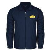 Full Zip Navy Wind Jacket-Official Logo