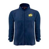 Fleece Full Zip Navy Jacket-Football