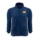 Fleece Full Zip Navy Jacket-Dad
