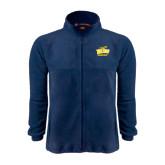 Fleece Full Zip Navy Jacket-Grandpa