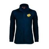 Ladies Fleece Full Zip Navy Jacket-Cross Country