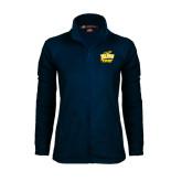 Ladies Fleece Full Zip Navy Jacket-Swimming and Diving