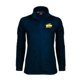 Ladies Fleece Full Zip Navy Jacket-Softball