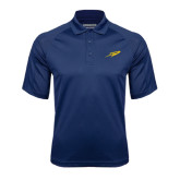 Navy Textured Saddle Shoulder Polo-Rocket