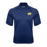 Navy Textured Saddle Shoulder Polo-Alumni