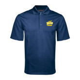 Navy Mini Stripe Polo-Swimming and Diving