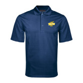 Navy Mini Stripe Polo-Dad