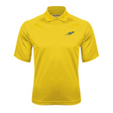 Gold Textured Saddle Shoulder Polo-Rocket