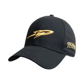 Black Heavyweight Twill Pro Style Hat-Rocket