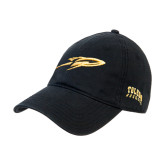 Black Twill Unstructured Low Profile Hat-Rocket
