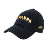 Black Twill Unstructured Low Profile Hat-Arched Toledo Rockets