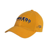 Gold Twill Unstructured Low Profile Hat-Arched Toledo Rockets