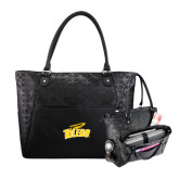 Sophia Checkpoint Friendly Black Compu Tote-Official Logo