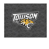 Medium Decal-Towson Charcoal Tiger Stripe, 8 inches Wide