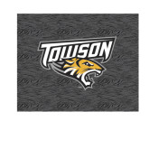 Small Decal-Towson Charcoal Tiger Stripe, 6 inches Wide