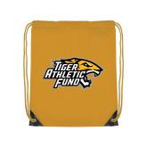 Gold Drawstring Backpack-Tiger Athletic Fund