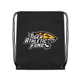 Black Drawstring Backpack-Tiger Athletic Fund