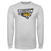 White Long Sleeve T Shirt-Primary Athletics Mark