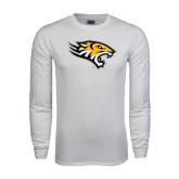 White Long Sleeve T Shirt-Tiger Head