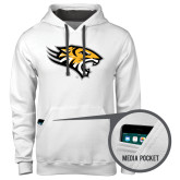 Contemporary Sofspun White Hoodie-Tiger Head