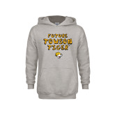Youth Grey Fleece Hood-Future Towson Tiger