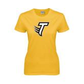 Ladies Gold T Shirt-Towson T