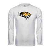 Performance White Longsleeve Shirt-Tiger Head