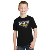 Youth Black T Shirt-Primary Athletics Mark