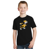 Youth Black T Shirt-Running Youth Mark