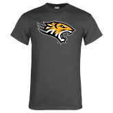 Charcoal T Shirt-Tiger Head