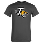 Charcoal T Shirt-T w/Tiger Head