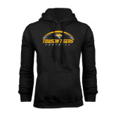 Black Fleece Hoodie-Towson Tigers Football Horizontal