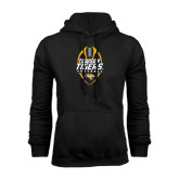 Black Fleece Hoodie-Towson Tigers Football Vertical
